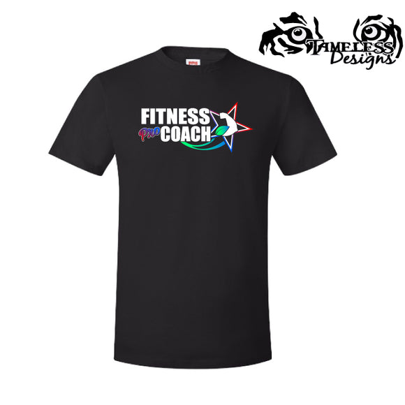 Fitness Pro Coach T-Shirt - Black