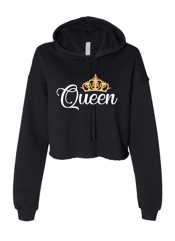 Queen Cropped Hoodie