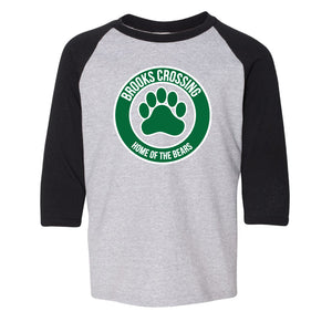 Brooks Raglan - Black and Grey