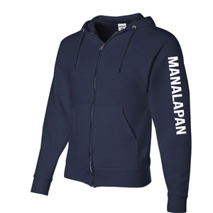 Navy Braves Full Zip Up