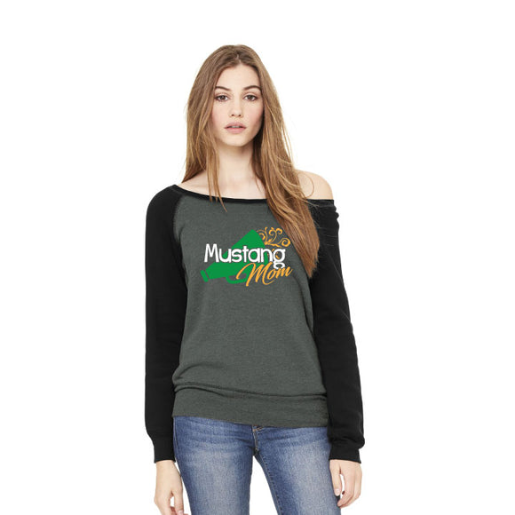 Brick Mom -  Fleece Wide-Neck Sweatshirt