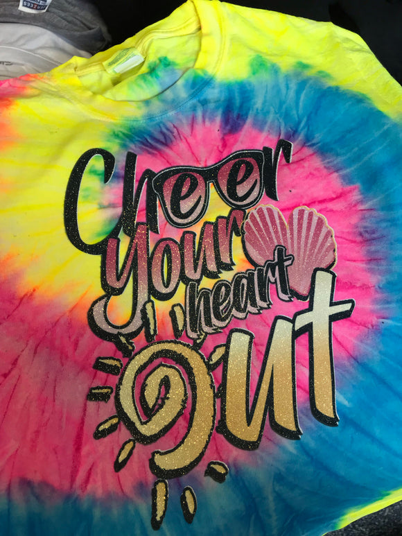 Cheer your heart out Tie Dye