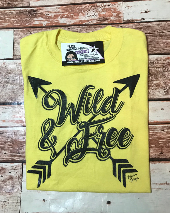 Wild & Free T-Shirt -  Yellow