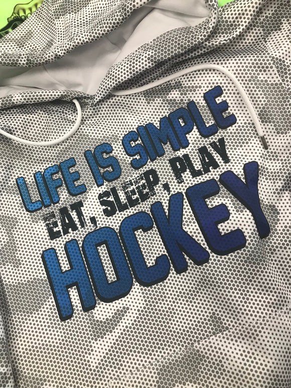Eat Sleep, Play Hockey Camo Hoodie