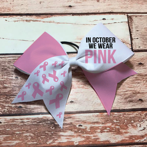 In October we Wear Pink Bow