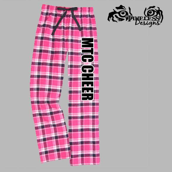 MTC Flannel Pants Pink with a Black Design
