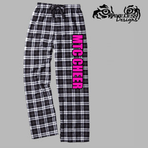 MTC Flannel Pants Black & Pink