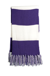 Purple and white Scarf