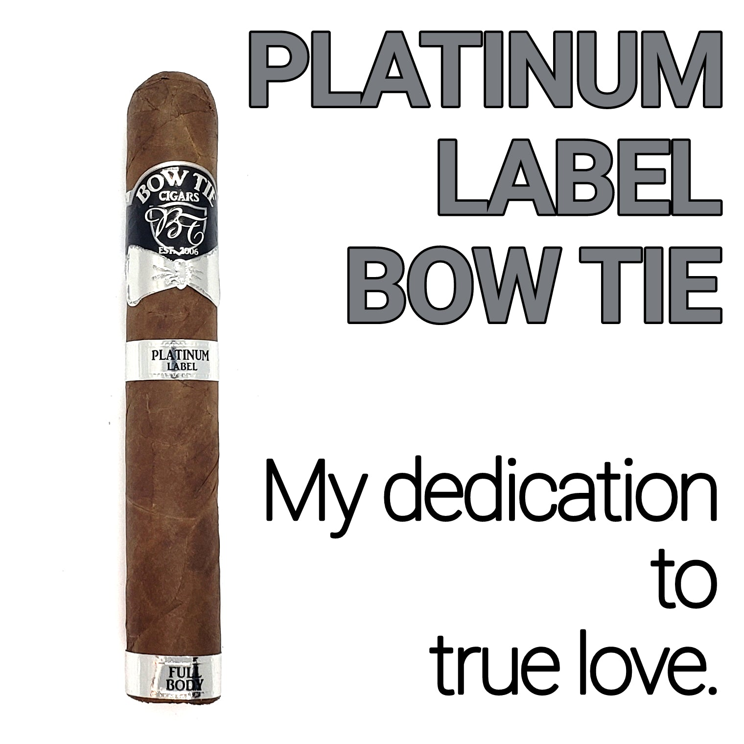 BOW TIE CIGARS PRESENTS – THE PLATINUM LABEL BOW TIE - 5 PACK CIGARS - Bow Tie Cigar