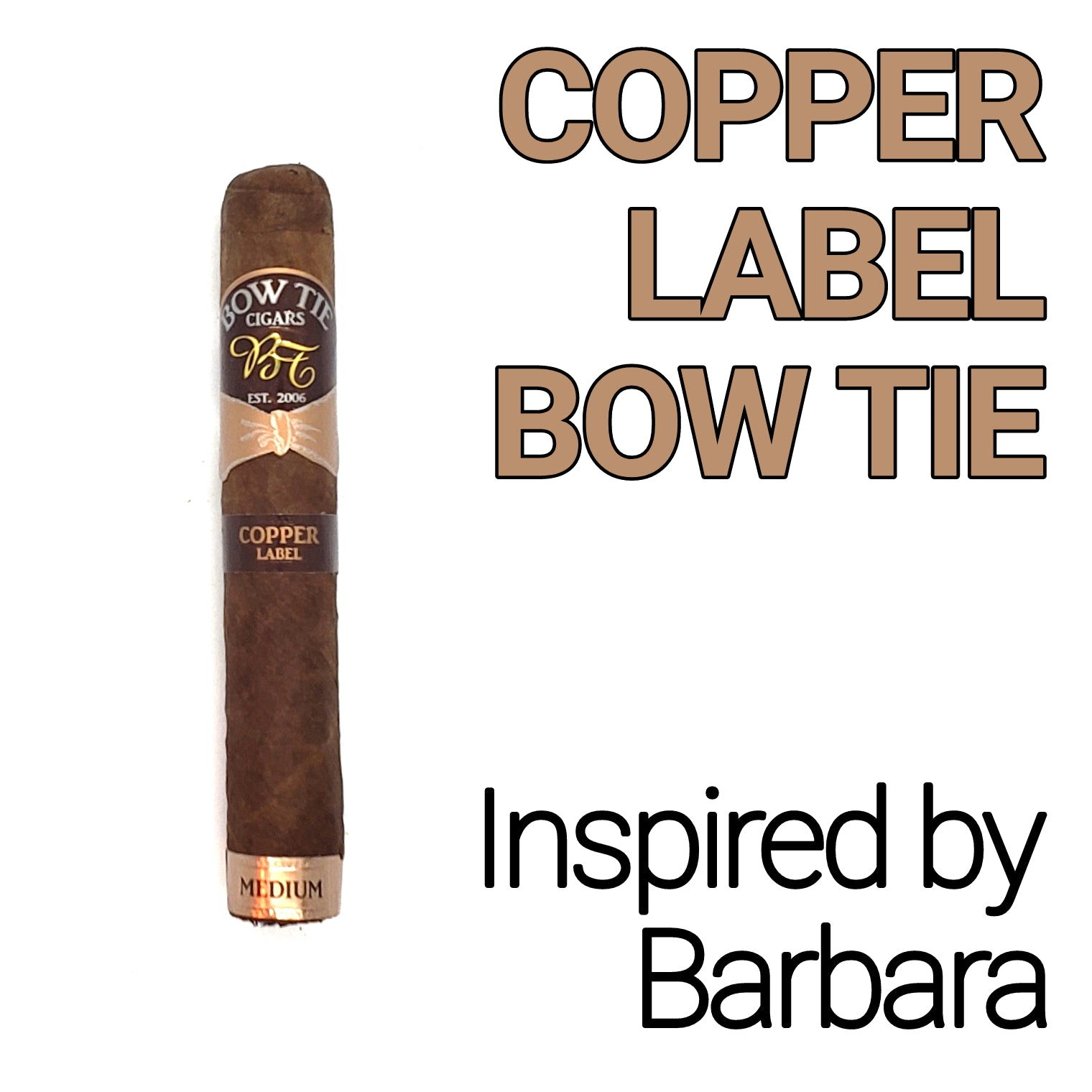 COPPER LABEL BOW TIE - 5 PACK