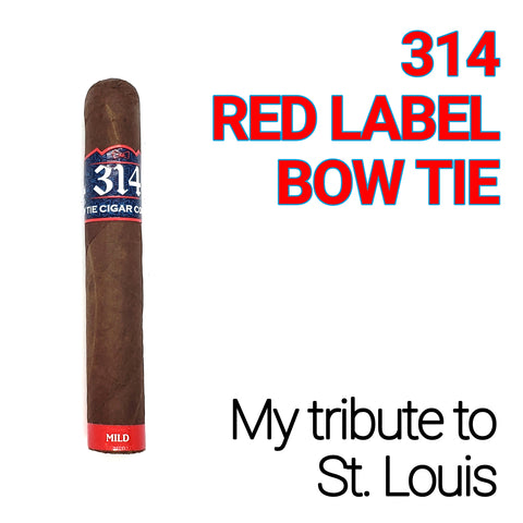 314 - RED LABEL BOW TIE - 5 PACK