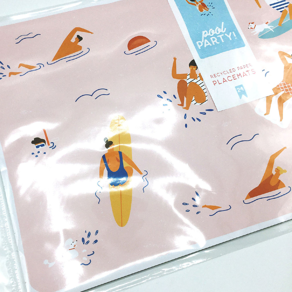 Paper Placemats - Pool Party