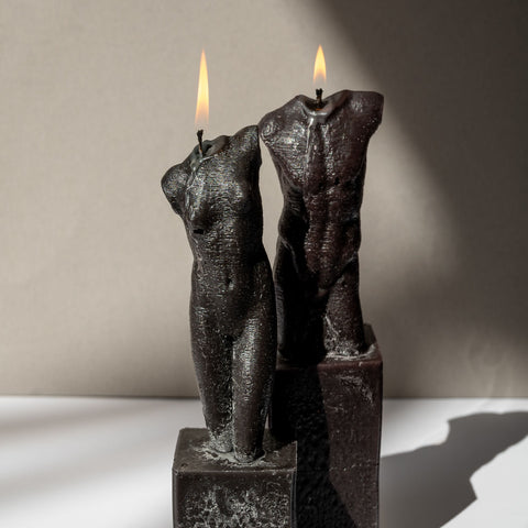 Bust Candle Female - Black