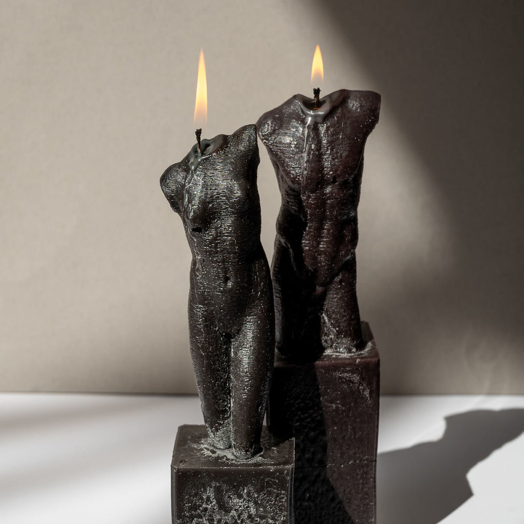 Bust Candle Male - Black