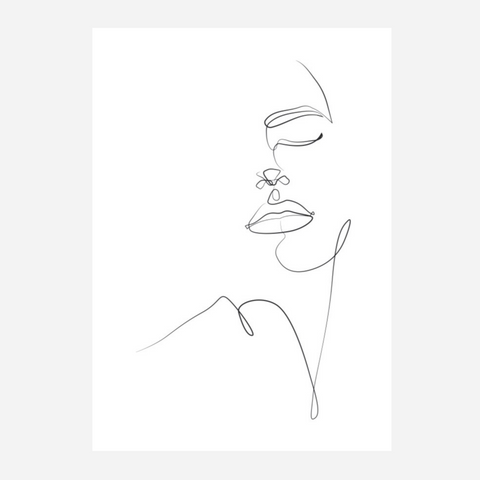 Line Art Print - Beauty