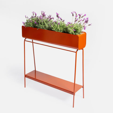 Ava Barrel Planter - Oxide Red
