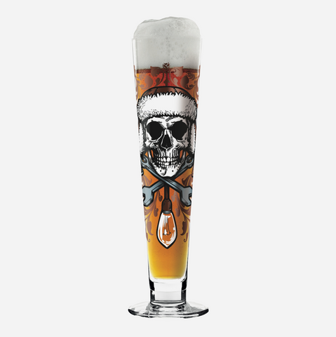 Black Label Beer Glass - Medusa Dollmaker