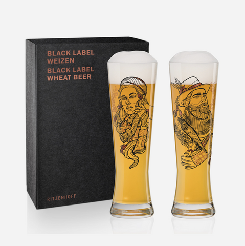 Black Label Wheat Beer Glass - Vladimir Bott