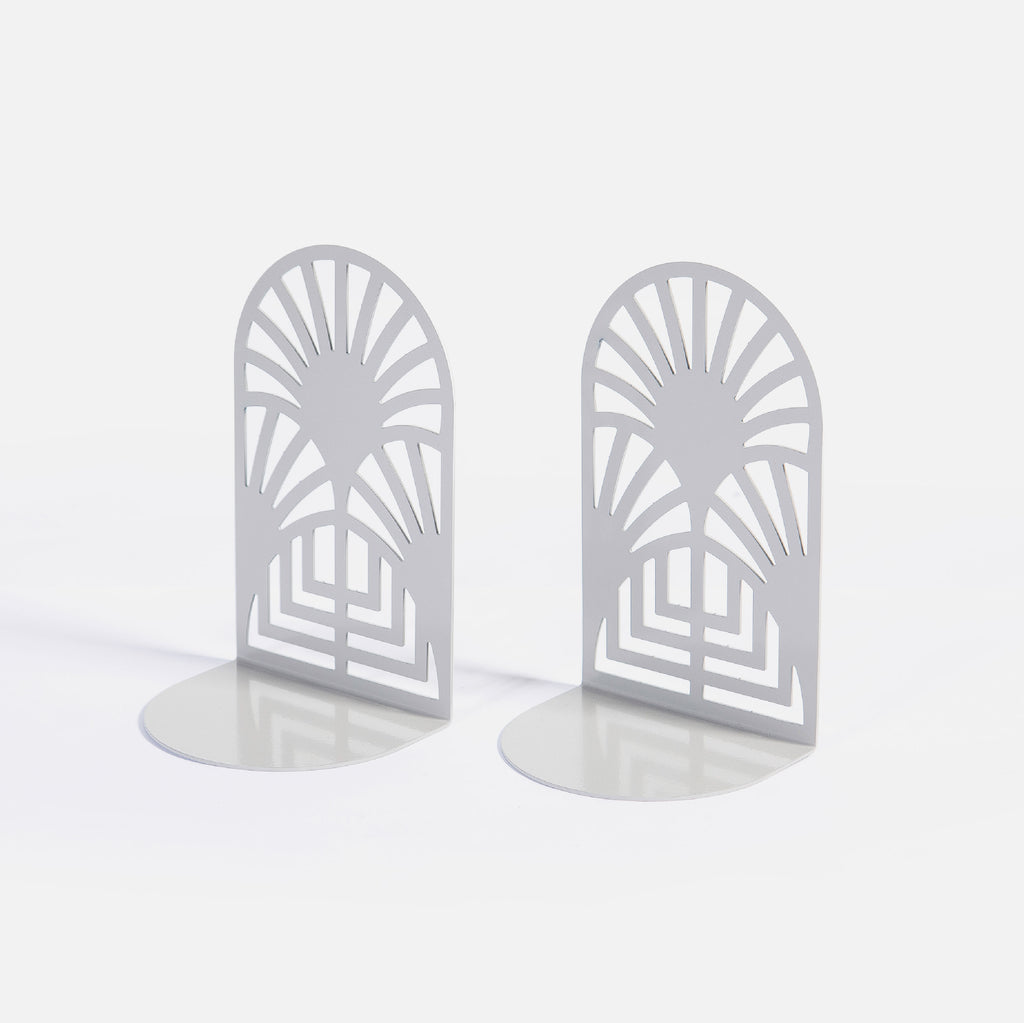 Art Deco bookends set of 2 - Clay Grey