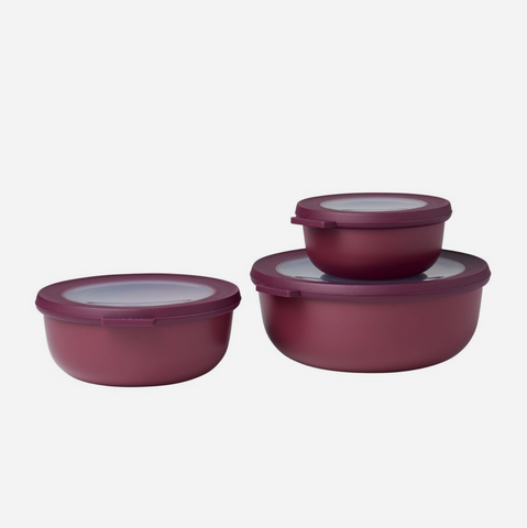 Cirqula 3 Piece Bowl Set/Shallow (350ml+750ml+1.25L) - Nordic Berry