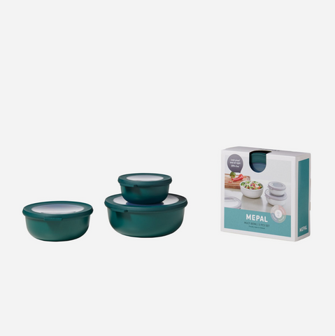 Cirqula 3 Piece Bowl Set/Shallow (350ml+750ml+1.25L) - Nordic Pine