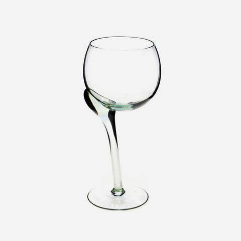 Crooked Stem Red Wine Glass