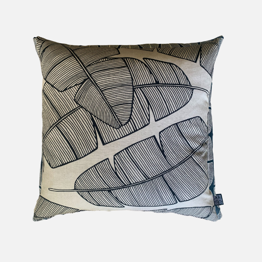 Scatter Cushion - Plantation Black on Linen