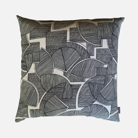 Scatter Cushion - Disa Black on Linen