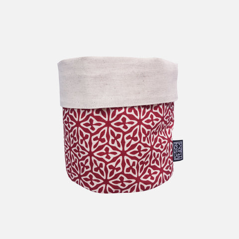 Medium Fabric Bucket - Seed Kidney Bean