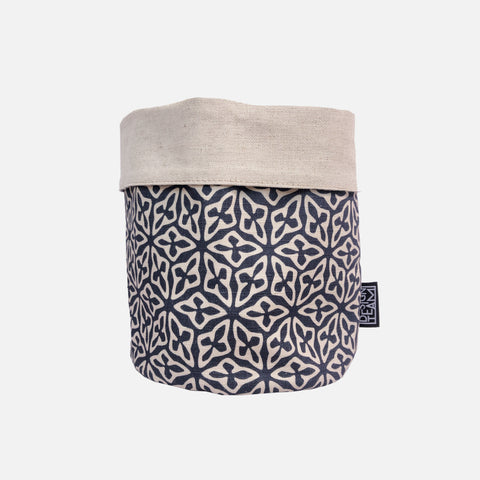 Medium Fabric Bucket - Seed Thunderstorm
