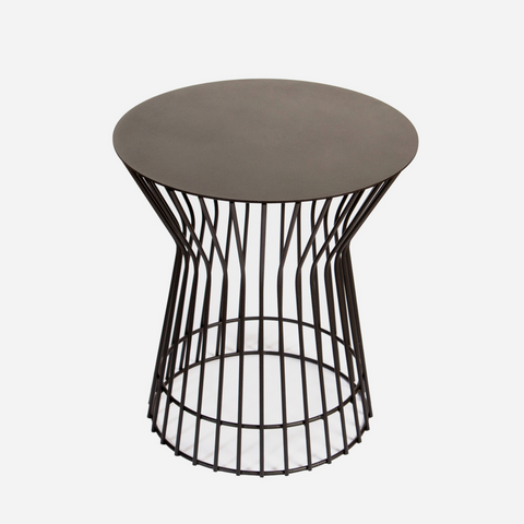 Drum Side Table - Black