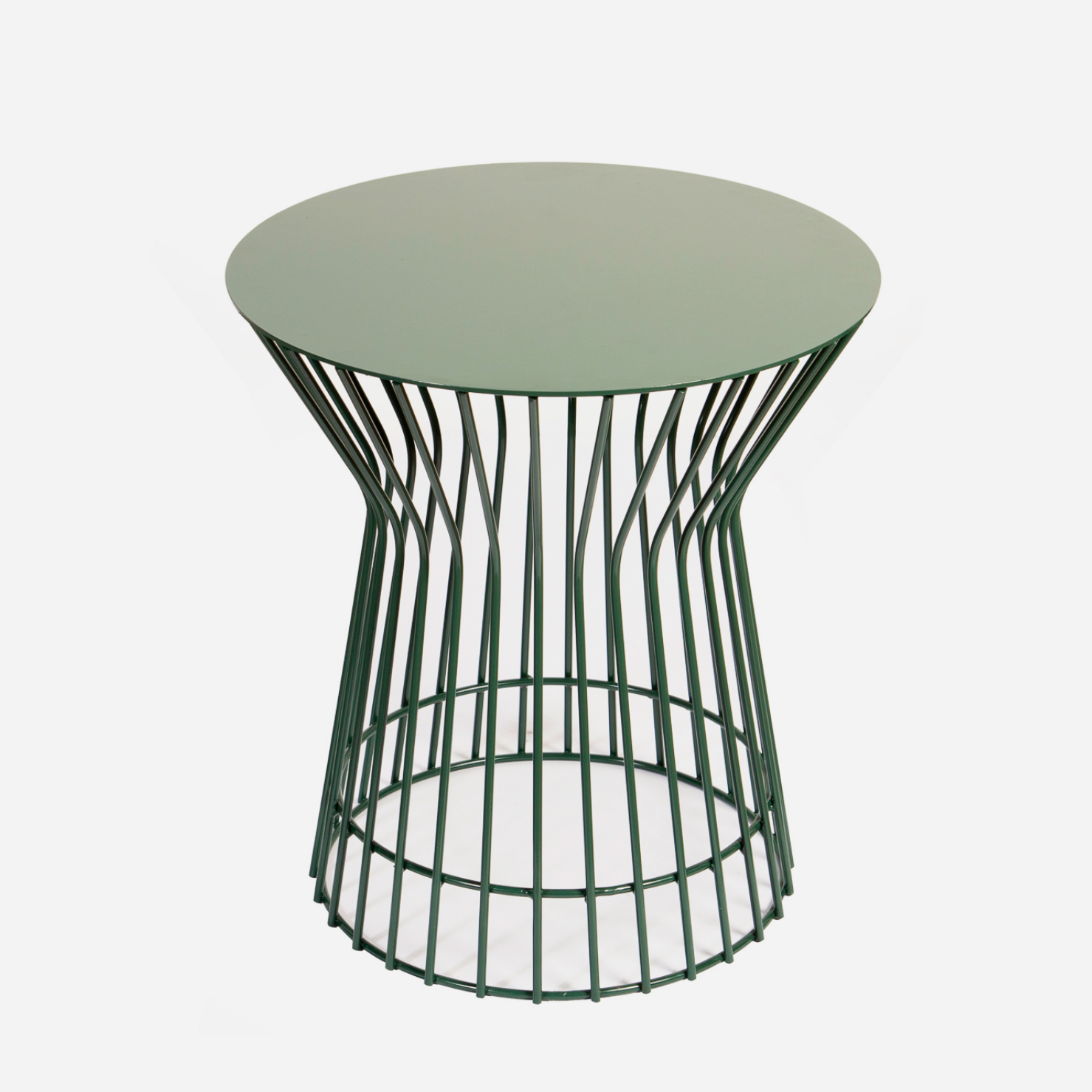 Drum Side Table - Emerald Green