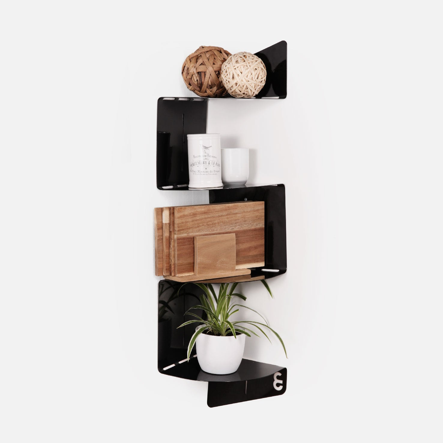 U-Bend It Corner Shelf - Black