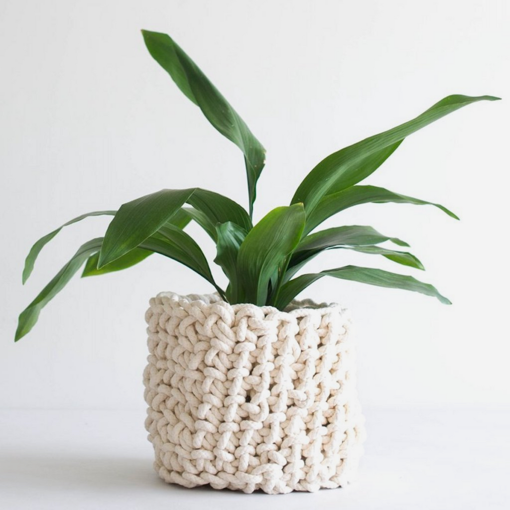 Tangled Crochet Planter