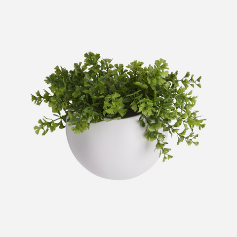 Globe Wall Planter - White