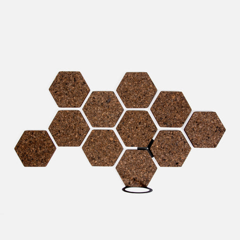 Hex Cork Organiser - Ebony