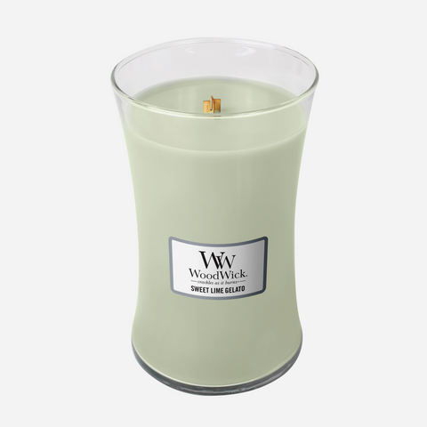 WoodWick Large Candle - Sweet Lime Gelato