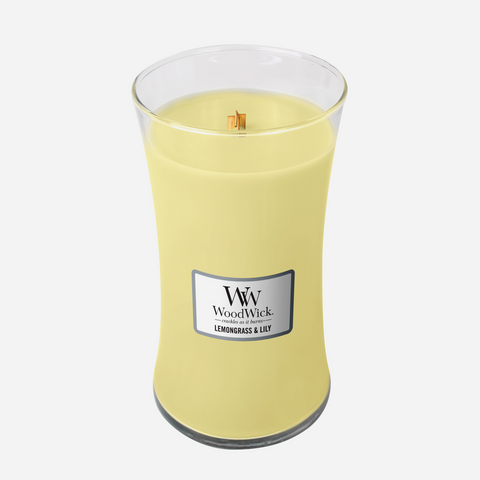 WoodWick Large Candle - Lemongrass & Lily
