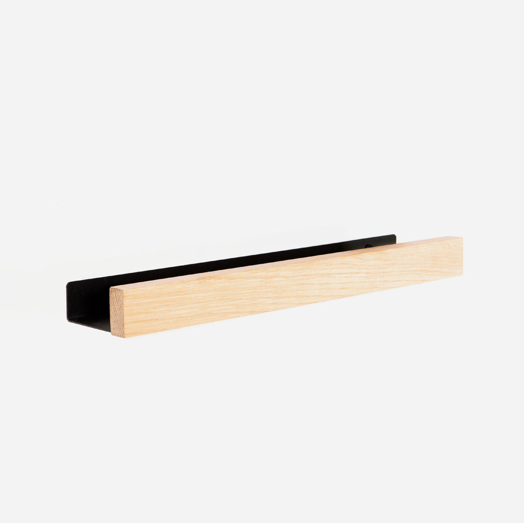 Oak Lip Shelf Medium 500 - Black