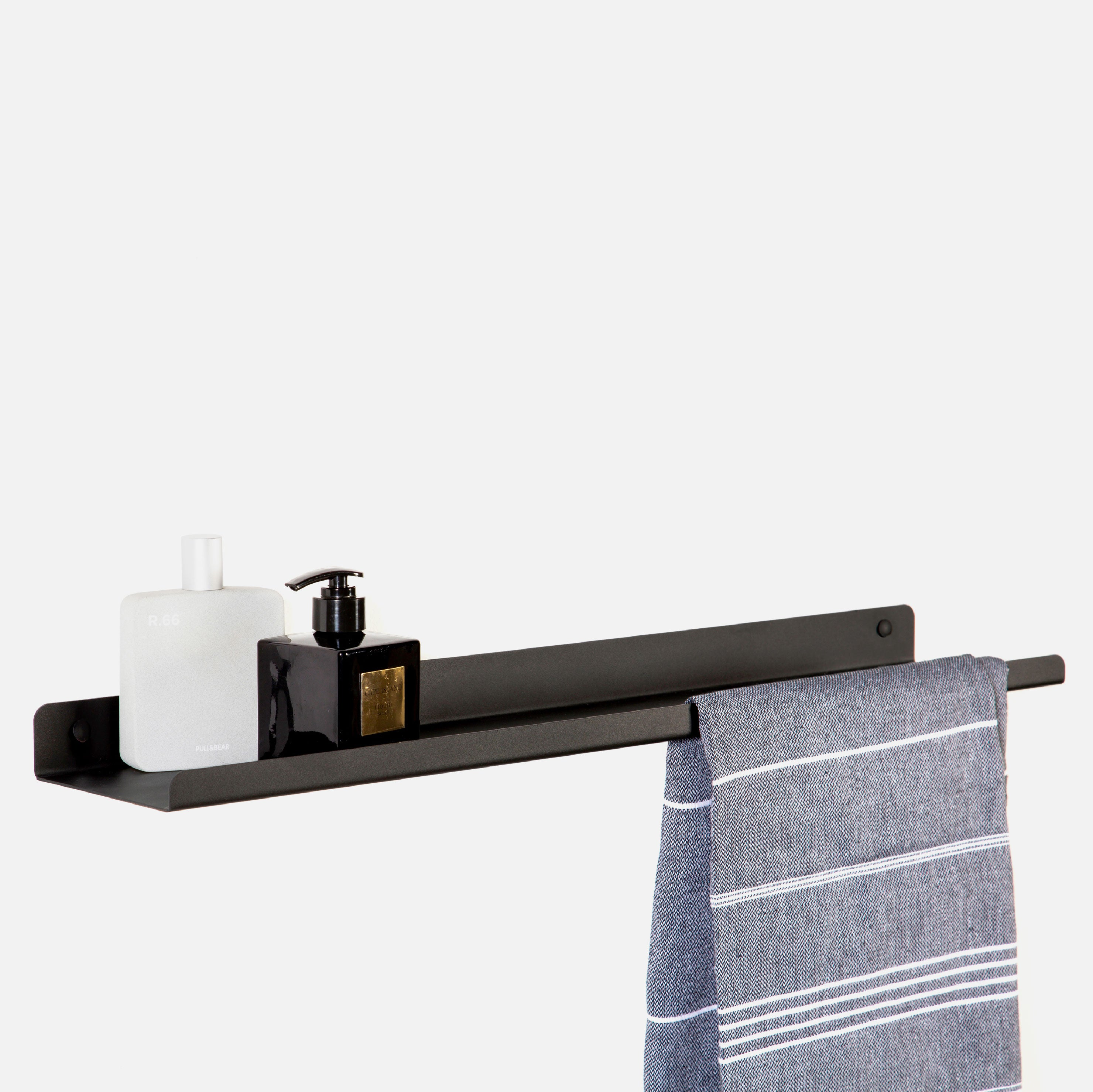 Lip Bathroom Shelf - Black