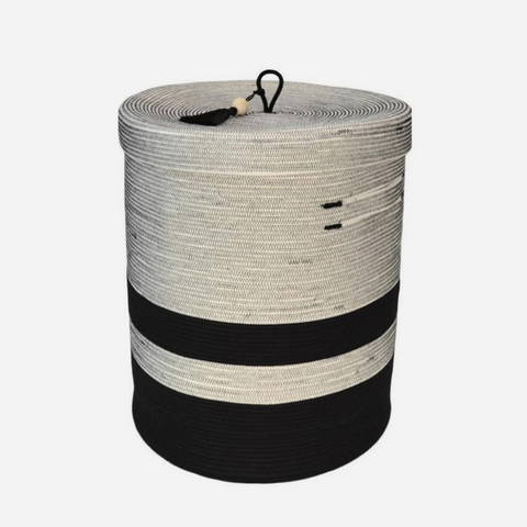 Lidded Laundry Basket - Liquorice