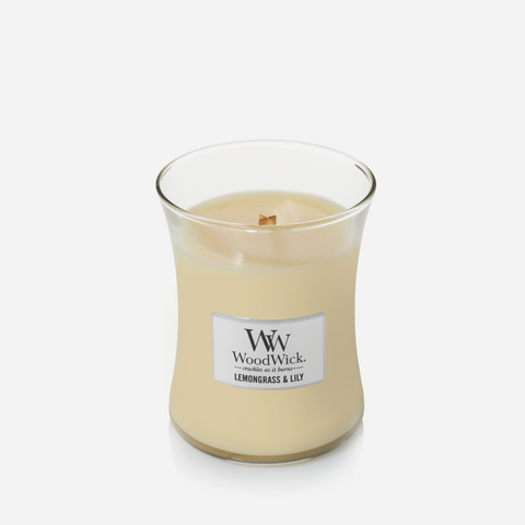 WoodWick Medium Candle - Lemongrass & Lily