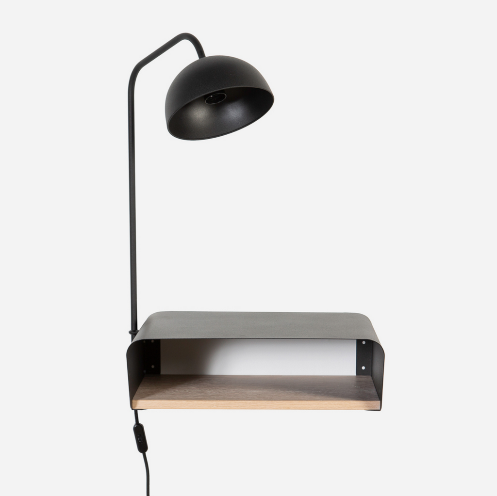 Minima Bedside Table & Lamp