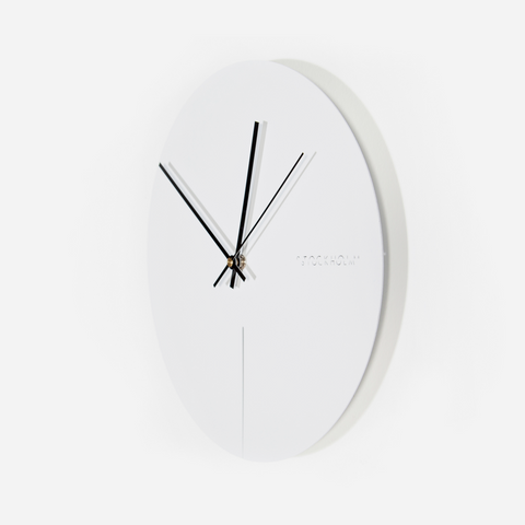 Moon Clock - White
