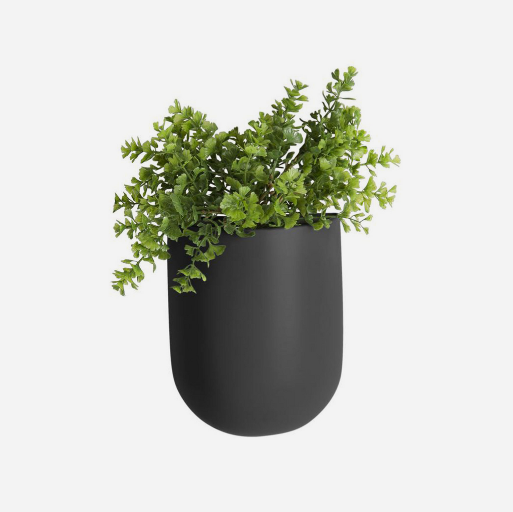 Oval Wall Planter  - Black