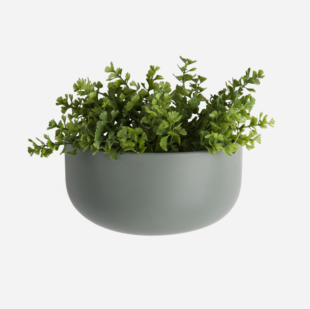 Oval Wall Planter - Green
