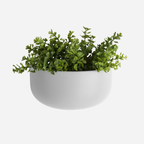 Oval Wall Planter - White