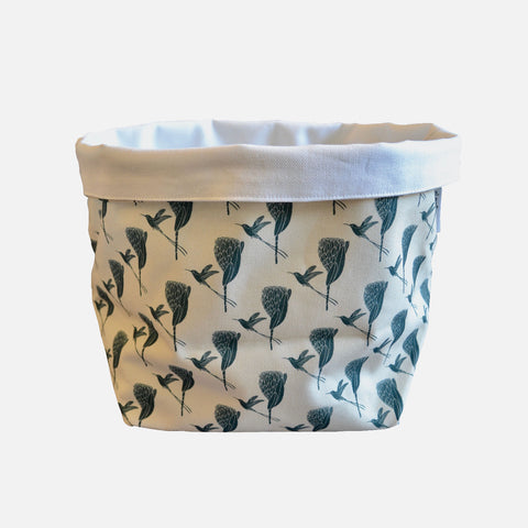 Medium Fabric Bucket: Sugarbird Gunmetal