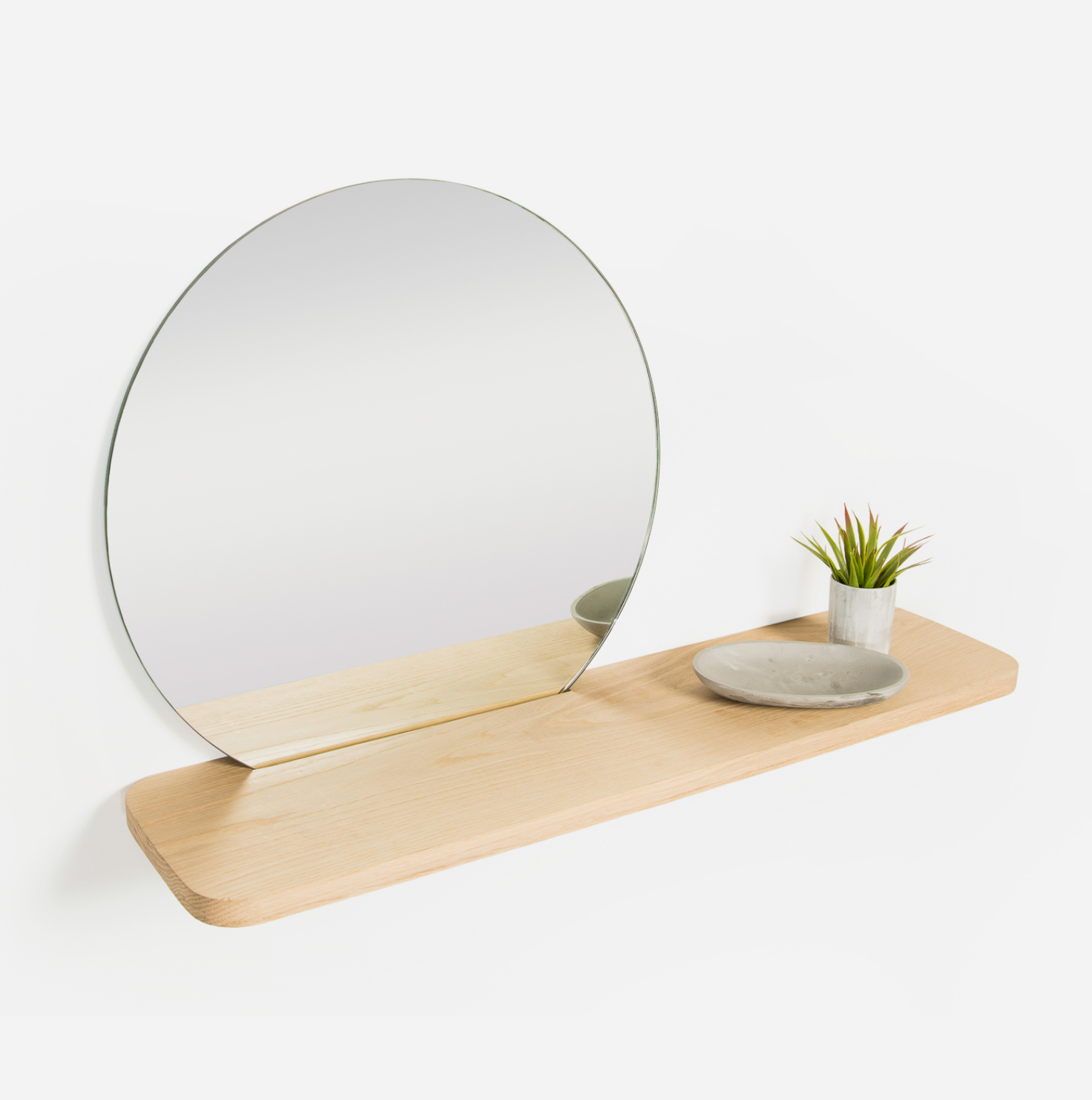 Stockholm Oak Mirror Shelf