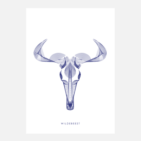 Horned Buck Print - Wildebeest